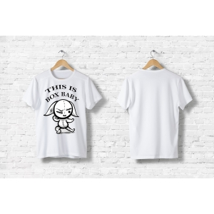 Футболка заяц - боксер футболка с принтом, сувенирные футболки, одежда для детей и взрослых, женская мужская одежда.