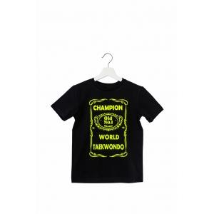 Футболка Чемпион Мира по Тхэквондо футболка с принтом, сувенирные футболки, одежда для детей и взрослых, женская мужская одежда. Сувениры подарки пошив одежды нанесение логотипа принты рисунки картины спортивная одежда все для спорта мужская женская детск