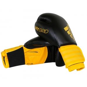 Перчатки боксерские  HYBRID 100 от Adidas черно-желтые