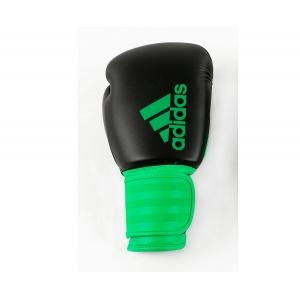 Перчатки боксерские  HYBRID 100 от Adidas черно-зеленые